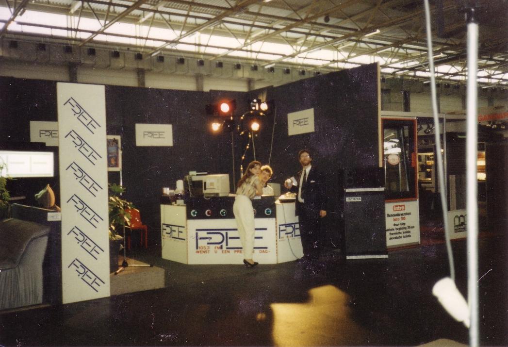 Radio Free opgesteld tijdens Flanders Expo in 1986